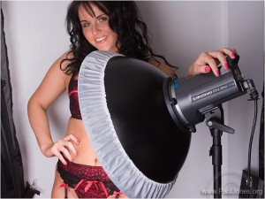 Michelle with Elinchrom D-Lite IT 4