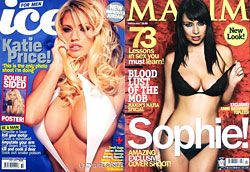 Ice magazine and Maxim magazine